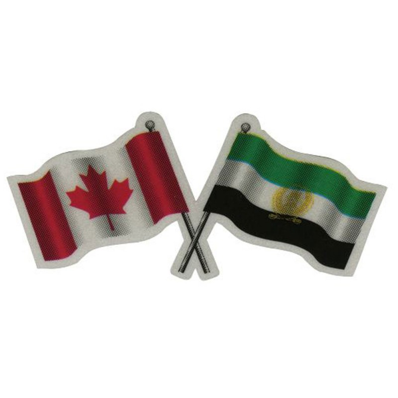 Afghanistan Canada Reflective Flag Decal Reflectives