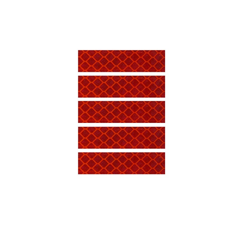 """1.25"""" x 5"""" (5/set) RED Reflectives"""
