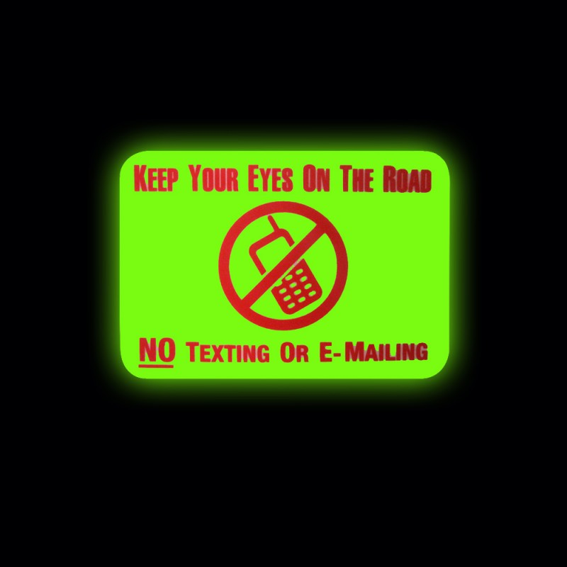 Keep Your Eyes on the Road Reflectives