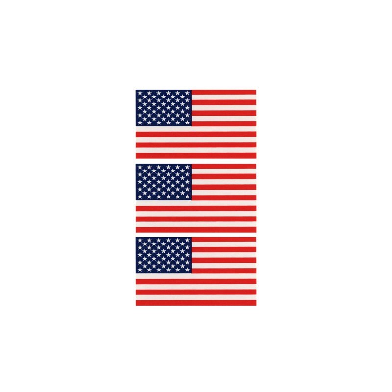 United States Flag Decal (3/sheet) Reflectives
