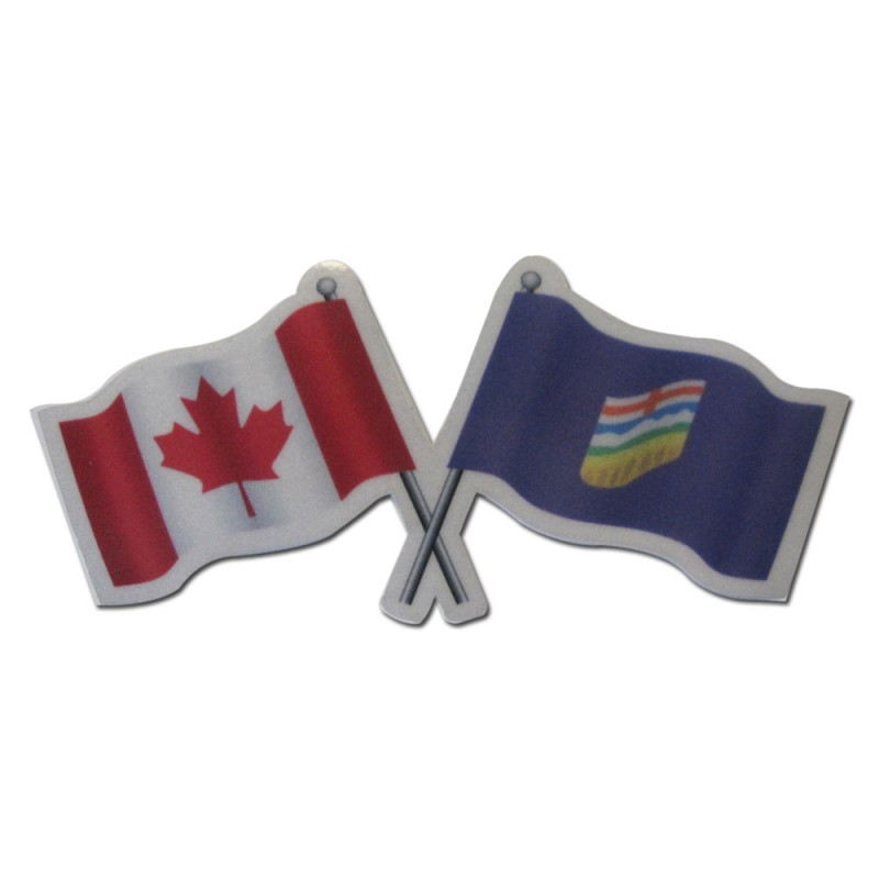 Alberta Canada Reflective Flag Decal Reflectives