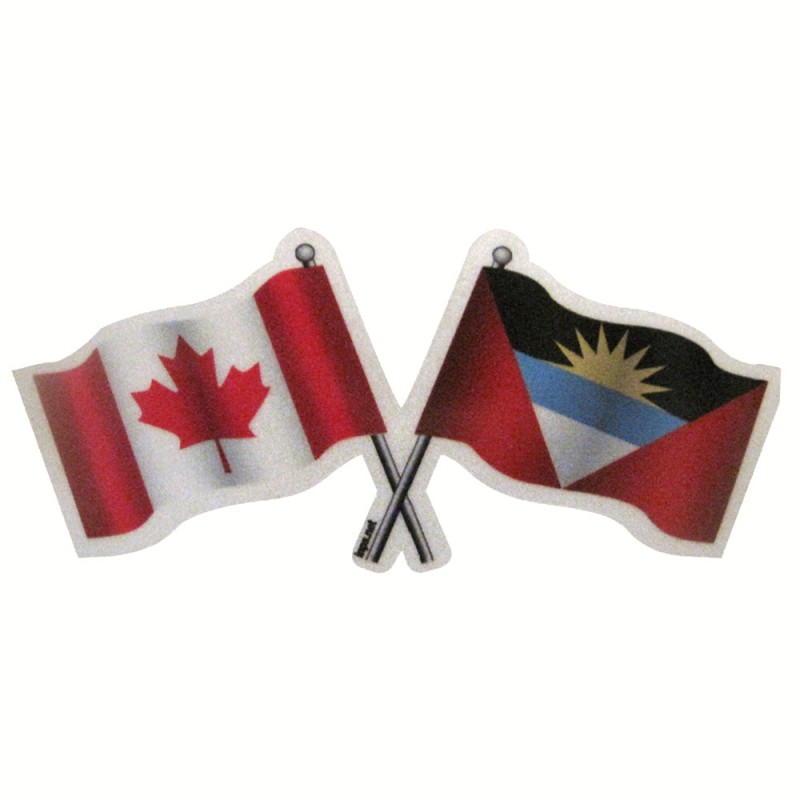 Antigua and Barbuda Canada Reflective Flag Decal Reflectives