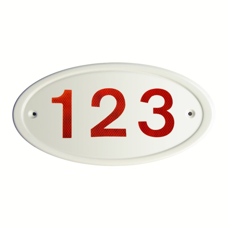 Cream Address Plates Reflectives