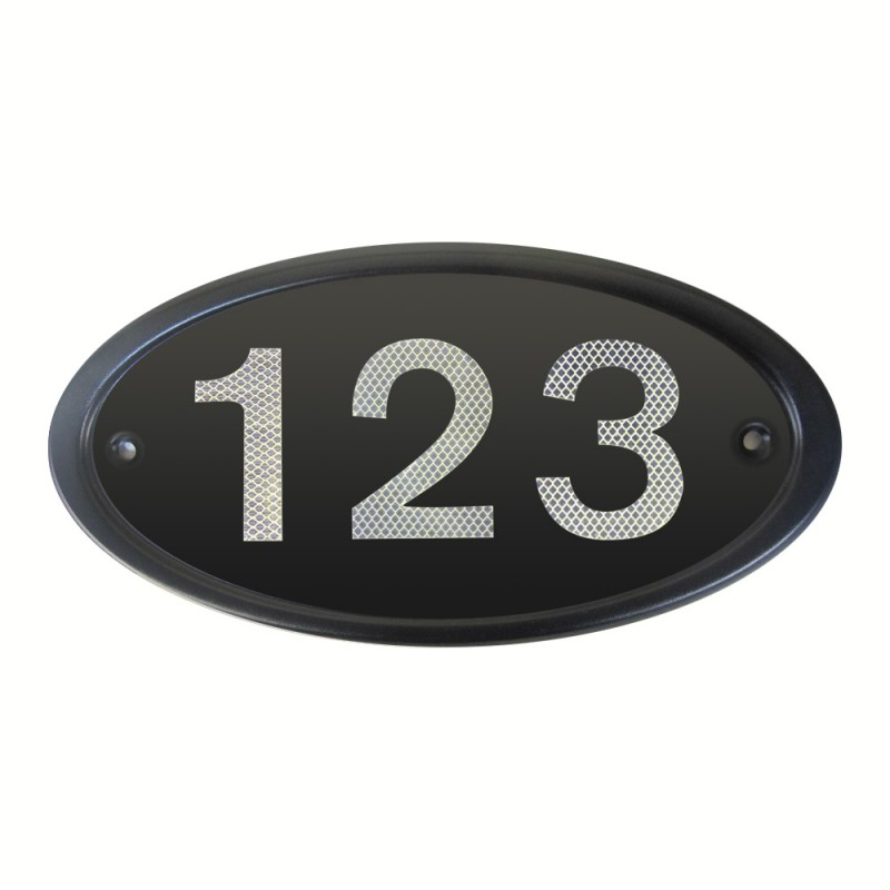 Black Address Plates Reflectives