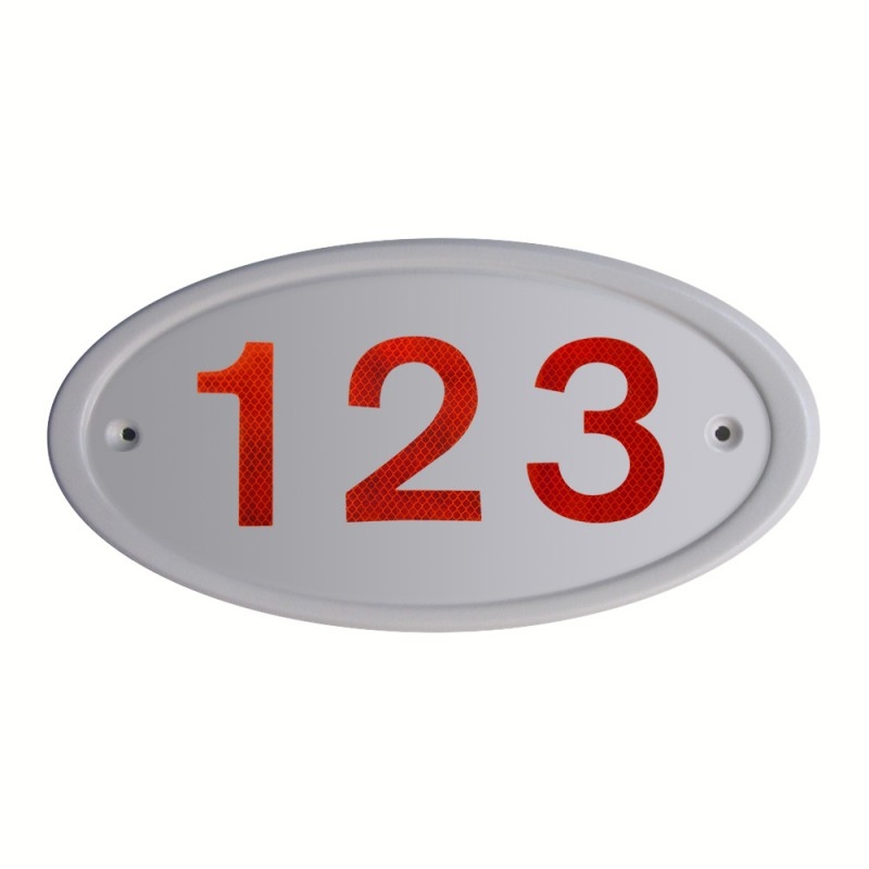 Grey Address Plates Reflectives