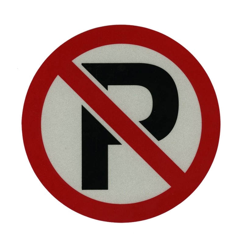 "No Parking Decal (6-1/4"") Reflectives"