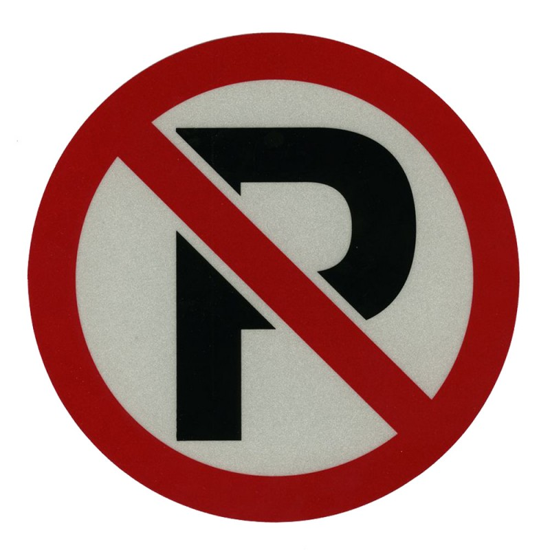 "No Parking Decal (7-1/4"") Reflectives"