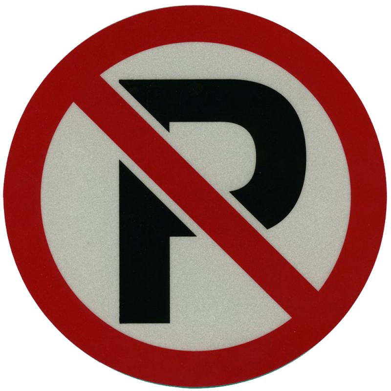 "No Parking Decal (8-1/4"") Reflectives"