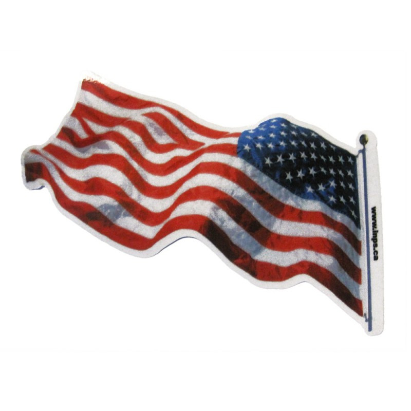 """United States Flag Decal (3.75"""" x 6.75"""") Reflectives"""