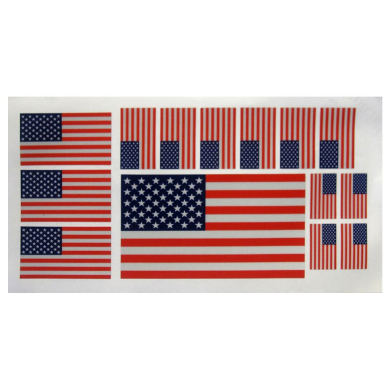 United States Flag Decal (11/sheet) Reflectives